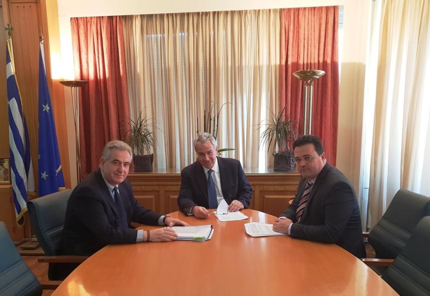 Συνάντηση Θανάση Καββαδά με τον Υπουργό Αγροτικής Ανάπτυξης Μάκη Βορίδη με πρόταση για νομοθετική ρύθμιση για ταανεπιτήρητα