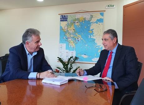 Συνάντηση του Θανάση Καββαδά στην Πάτρα με τον Διοικητή της 6ης ΥΠΕ για την Υγεία στηνΛευκάδα
