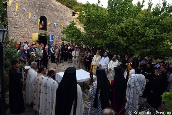 Μέγας Πανηγυρικός Εσπερινός στο Μοναστήρι Αγίου Ιωάννη στο λιβάδιΚαρυάς