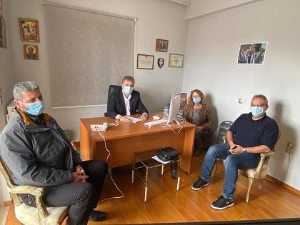 Συνάντηση με τον Βουλευτή Λευκάδας είχαν τα μέλη του Διοικητικού Συμβουλίου του ΜΟ «Ο Απόλλων»Καρυάς