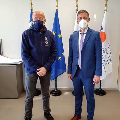 Σύσκεψη του Αντιπεριφερειάρχη Λευκάδας με τον Γενικό Γραμματέα Πολιτικής Προστασίας, στηνΑθήνα